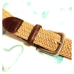 Dkny leather tipped belt